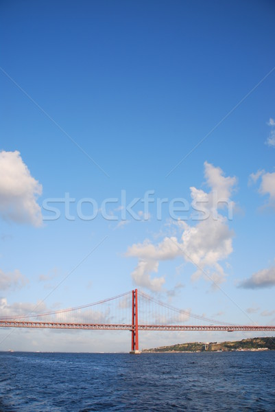 Brug Lissabon Portugal oude landschap Stockfoto © luissantos84