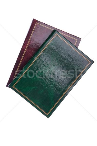Foto verde rojo antiguos aislado blanco Foto stock © luissantos84