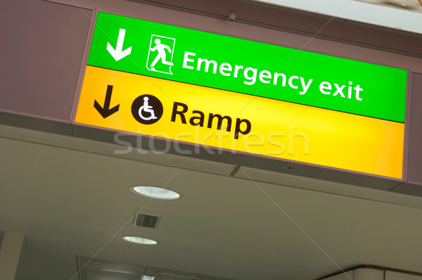 Emergency exit and ramp access sign Stock photo © luissantos84