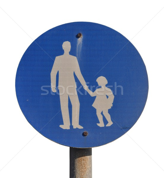 Child pedestrian sign Stock photo © luissantos84