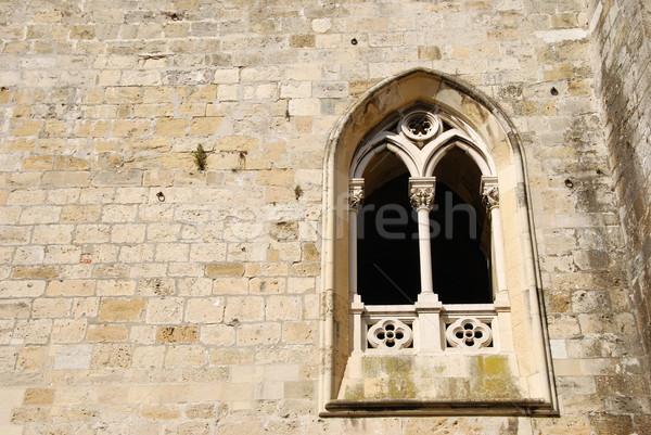 Dettaglio architettonico antica chiesa finestra bella dettaglio Foto d'archivio © luissantos84