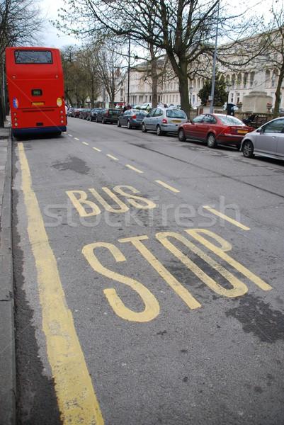 バス停 美しい にログイン 赤 英国の 典型的な ストックフォト © luissantos84
