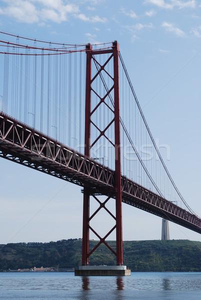 ストックフォト: リスボン · 橋 · 古い · ポルトガル · 市 · 海