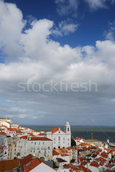 Santo Estevao church in Lisbon Stock photo © luissantos84
