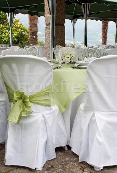 свадьба таблице великолепный Председатель Изысканные ужины улице Сток-фото © luissantos84