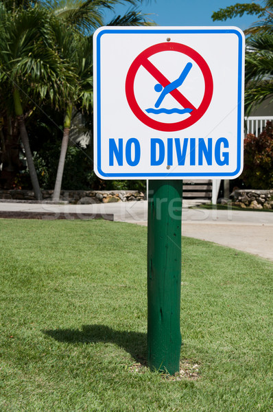 No diving sign Stock photo © luissantos84