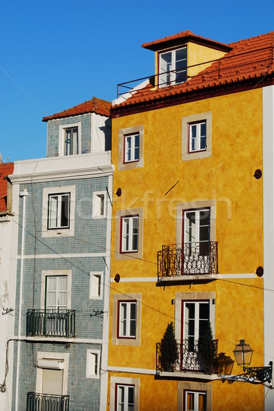 Antica costruzione facciata antichi classico residenziale Foto d'archivio © luissantos84