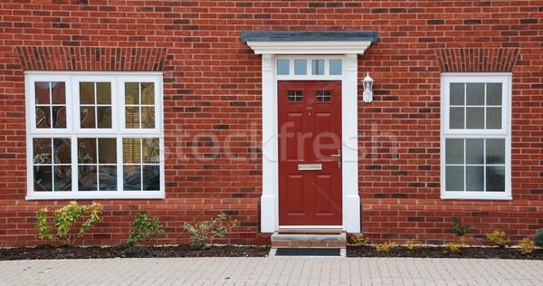 赤 レンガ 家 クローズアップ 典型的な 英国の ストックフォト © luissantos84