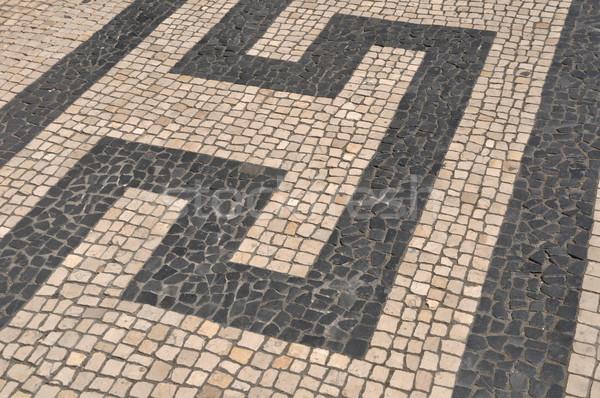 Portuguese sidewalk pavement Stock photo © luissantos84