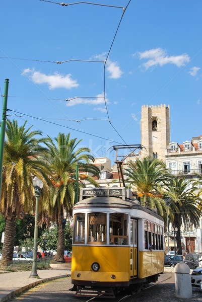 Cityscape of Lisbon city with S Stock photo © luissantos84