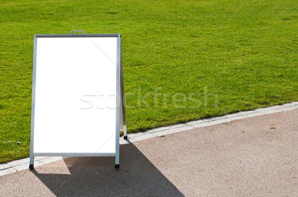 Board on grass Stock photo © luissantos84