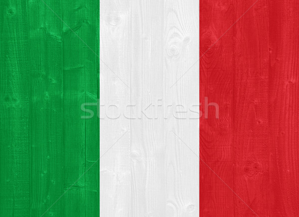 Италия флаг великолепный окрашенный древесины доска Сток-фото © luissantos84