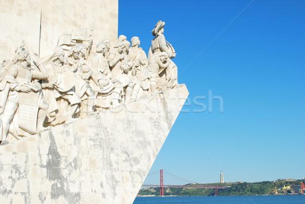 Stock fotó: Tenger · Lisszabon · Portugália · híres · kő · óceán