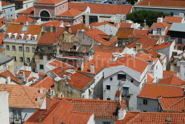 Lisbon rooftops view Stock photo © luissantos84