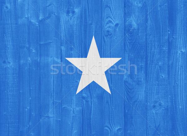 Somali banderą przepiękny malowany drewna deska Zdjęcia stock © luissantos84