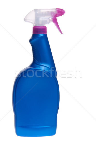 Sprey deterjan şişe mavi yalıtılmış beyaz Stok fotoğraf © luissantos84