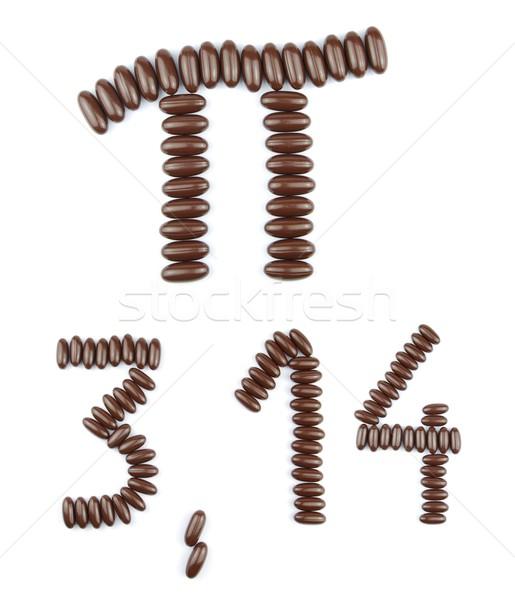 Chocolate Pi constant Stock photo © luissantos84