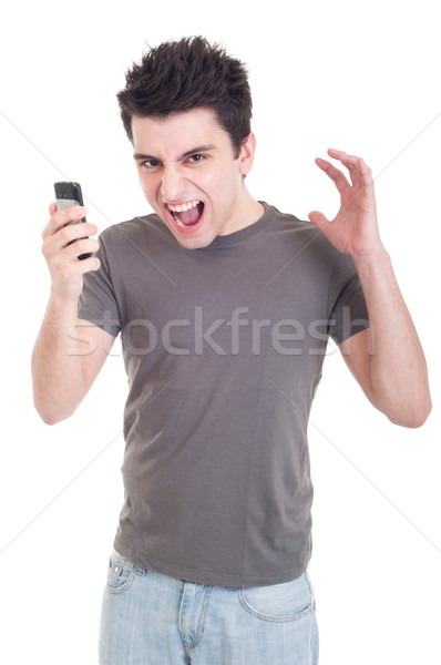 Man yelling into mobile Stock photo © luissantos84