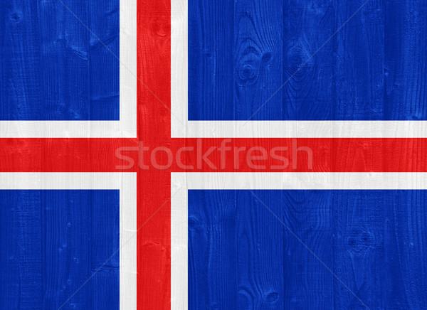 Islanda bandiera magnifico verniciato legno Foto d'archivio © luissantos84