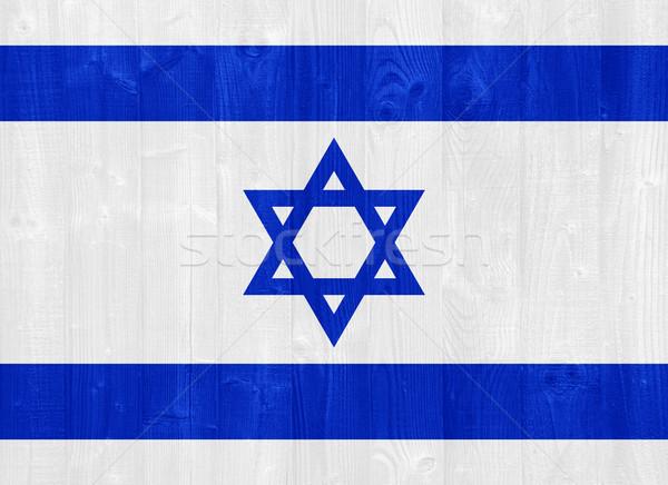 Israël vlag prachtig geschilderd hout plank Stockfoto © luissantos84