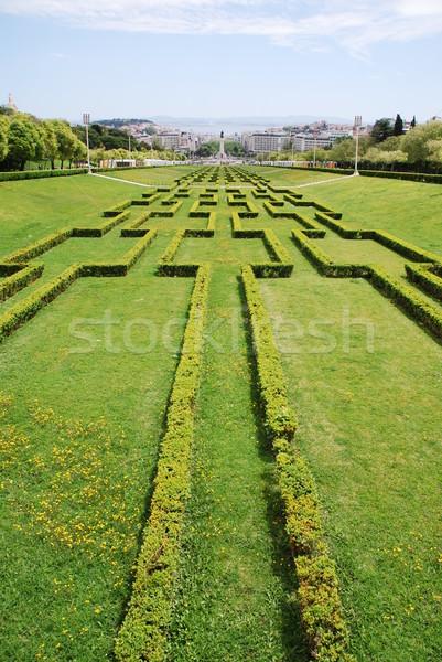 Eduardo VII park in Lisbon Stock photo © luissantos84