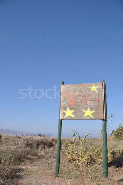 Beach sign Stock photo © luissantos84