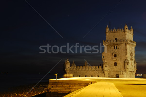 Belem Tower in Lisbon, Portugal (Sunset) Stock photo © luissantos84