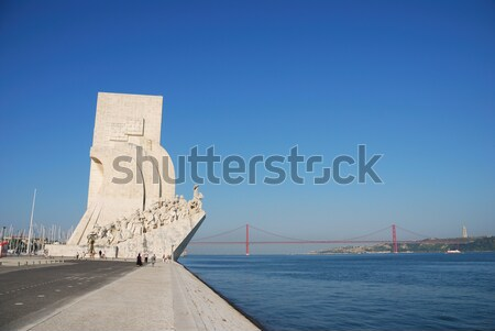 Monument to the Discoveries in Lisbon Stock photo © luissantos84