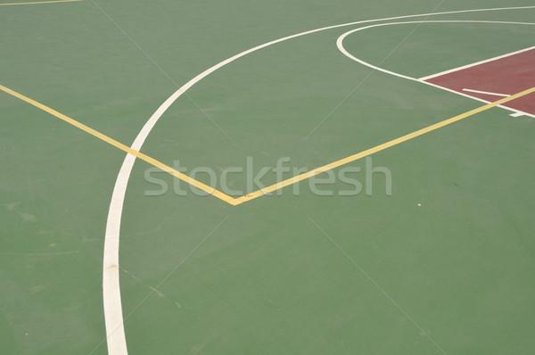 баскетбольная площадка красочный баскетбол линия Открытый суд Сток-фото © luissantos84