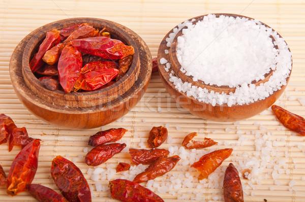 Сток-фото: соль · великолепный · Vintage · кегли · приготовления