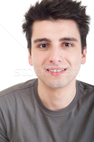 Depresso uomo triste giovane piangere foto Foto d'archivio © luissantos84