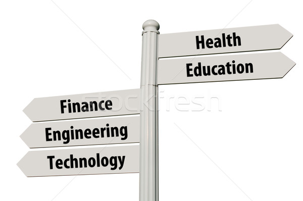 Career paths signpost Stock photo © luissantos84