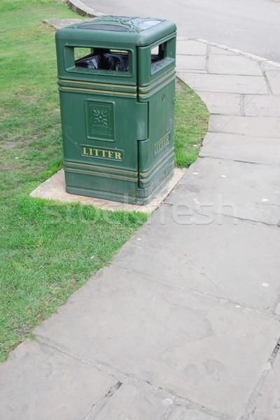 зеленый можете трава мусорный ящик саду фон Сток-фото © luissantos84