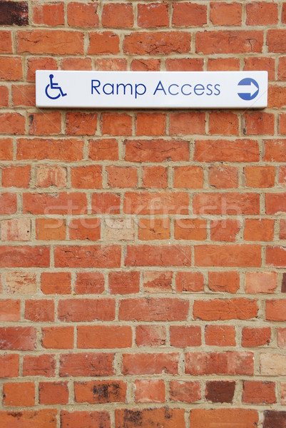 Ramp access sign Stock photo © luissantos84