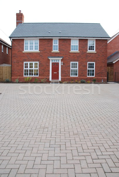 Detached red brick house Stock photo © luissantos84
