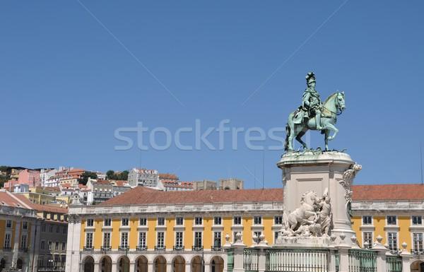 Statue of King Jose in Lisbon Stock photo © luissantos84