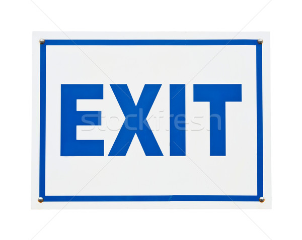 Exit sign Stock photo © luissantos84