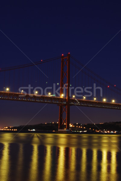 Lisbon Bridge - April 25th (Night) Stock photo © luissantos84
