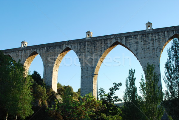 Aqueduct of the Free Waters in Lisbon Stock photo © luissantos84
