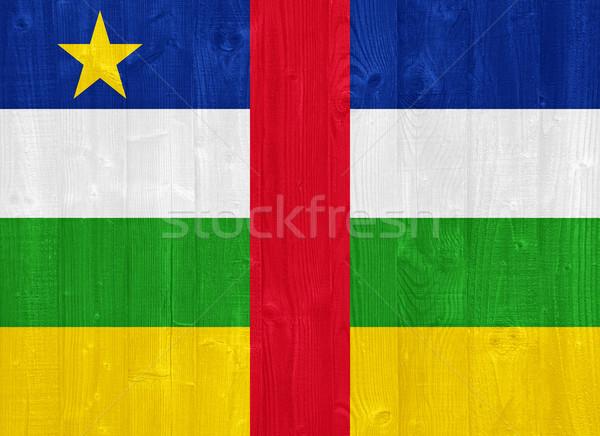 центральный африканских республика флаг великолепный окрашенный Сток-фото © luissantos84