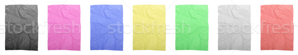 Colorful wrinkled papers Stock photo © luissantos84