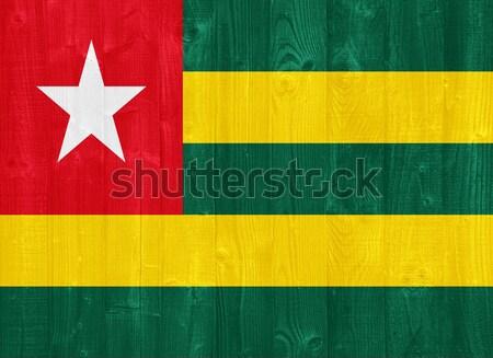 Togo banderą przepiękny malowany drewna deska Zdjęcia stock © luissantos84