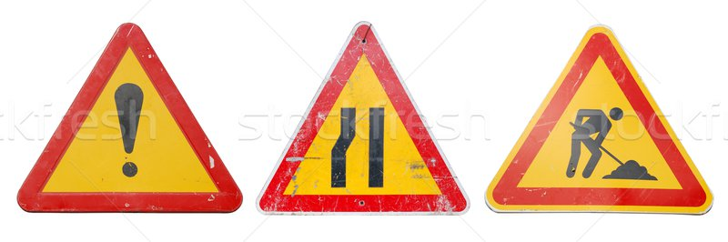 Construction signs Stock photo © luissantos84