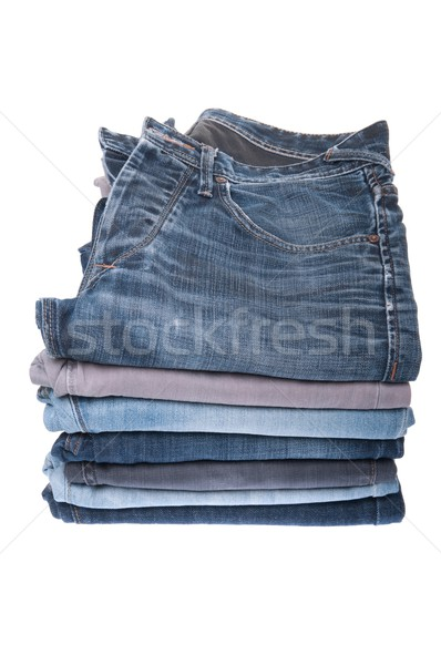 Stack of jeans Stock photo © luissantos84
