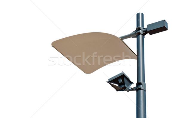 Moderno lâmpada postar reflexão painel Foto stock © luissantos84