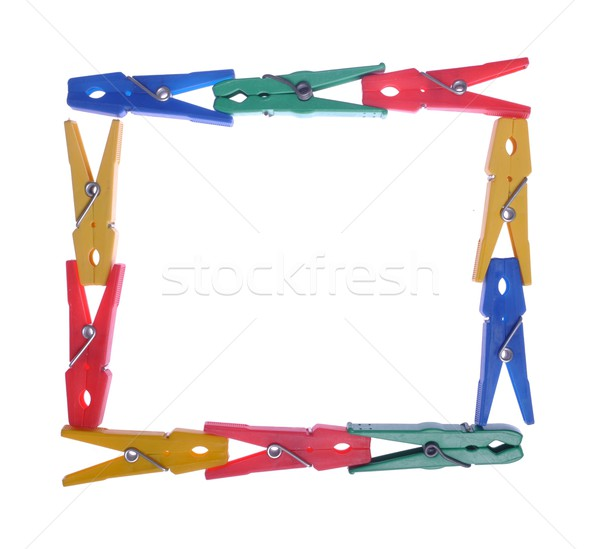 Clothes pegs frame Stock photo © luissantos84