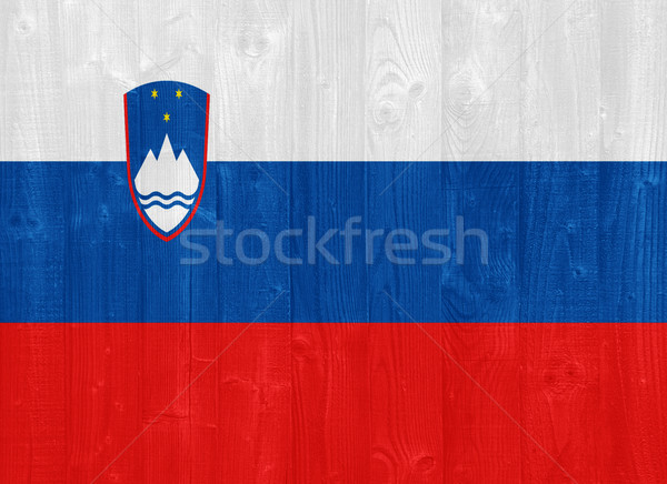 Slovenia flag Stock photo © luissantos84