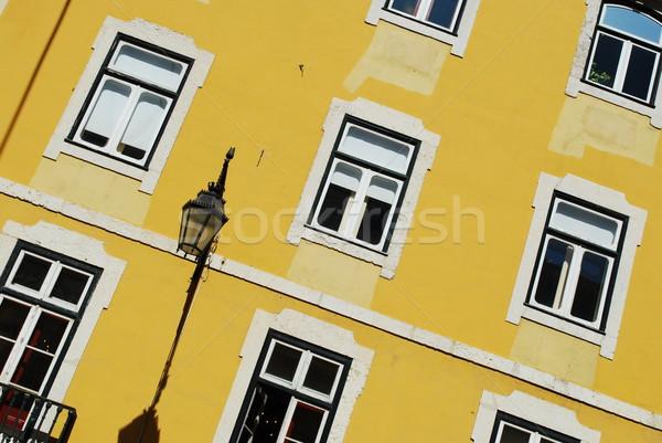 Traditioneel huis gebouw Lissabon Portugal woon- Stockfoto © luissantos84