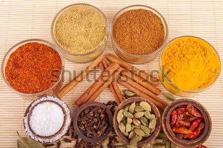 Сток-фото: индийской · специи · великолепный · индийская · кухня · тмин · кориандр