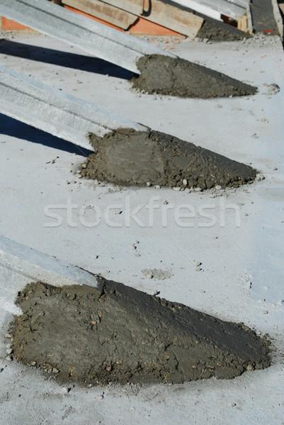 屋根 詳細 家 建設 フレームワーク 準備 ストックフォト © luissantos84